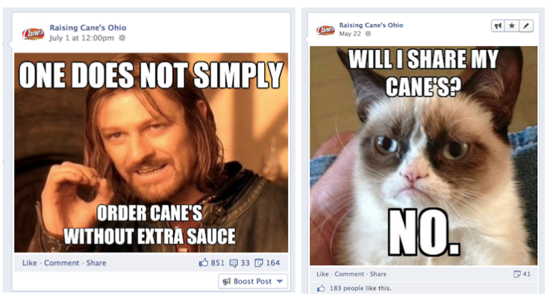 The Power of Memes | Cement Marketing Raising Cane's