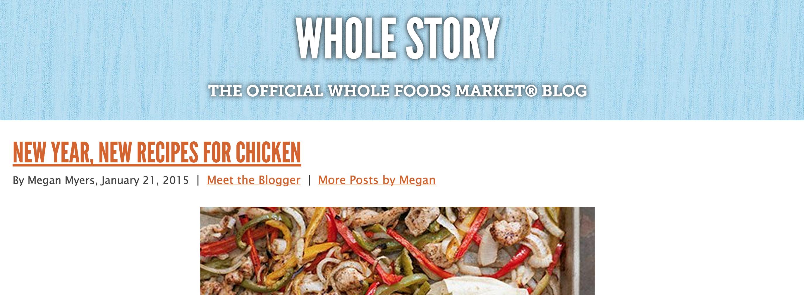 WholeFoods blog