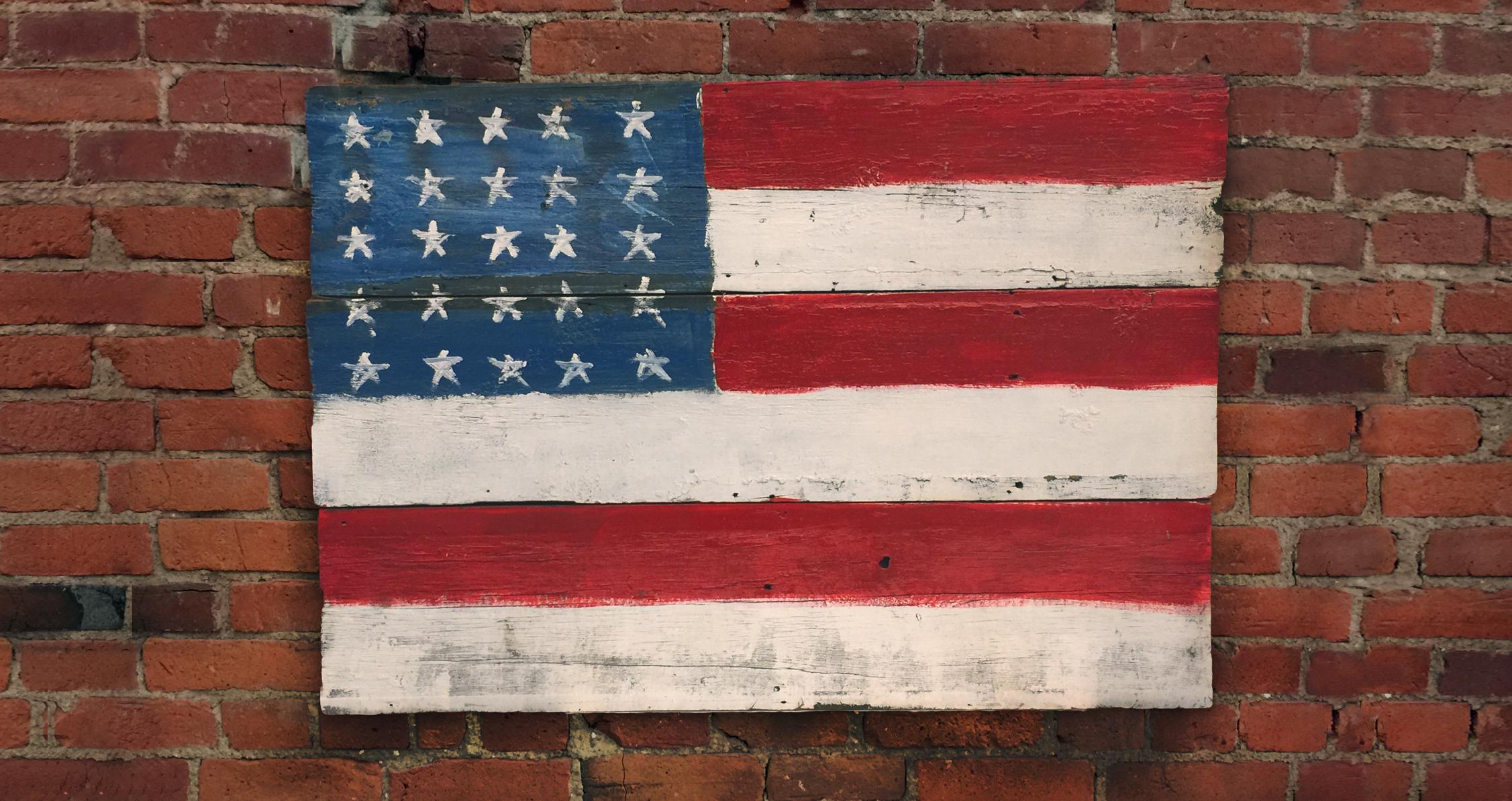 American flag - Columbus